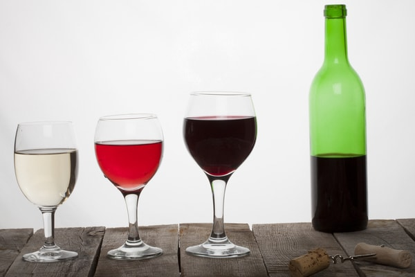 Risk in men & from drinking a bottle of wine