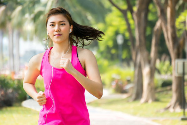 exercising with jogging